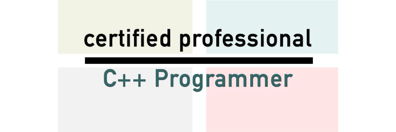 Certified C++ Programmer