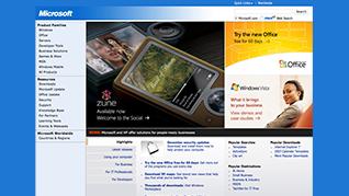 Microsoft.com redesigned