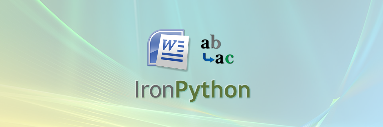 Replace Text within a Word document using IronPython
