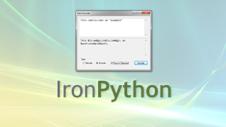 IronPython WinForms Example: HTML Encoder
