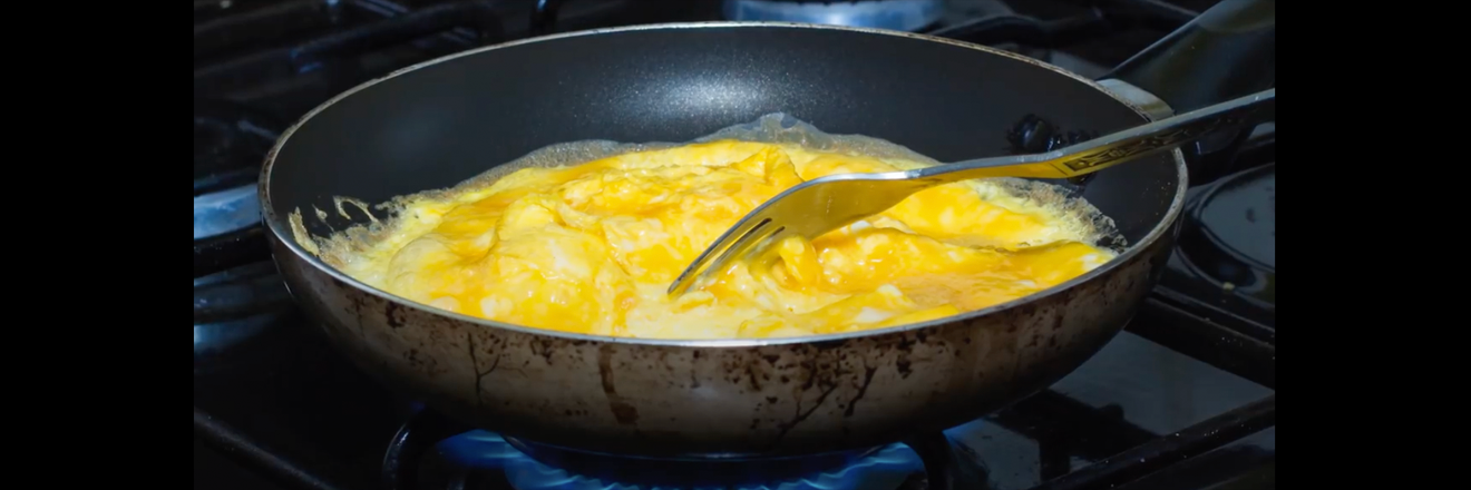 My new favorite way of making scrambled eggs