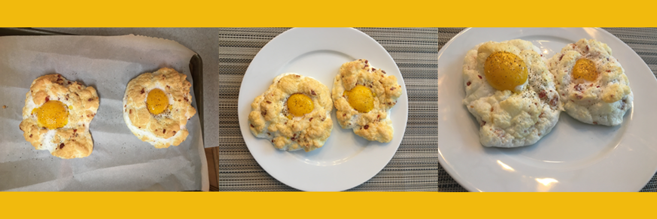 ☁️🥚 🥓 Cloud Eggs with Bacon